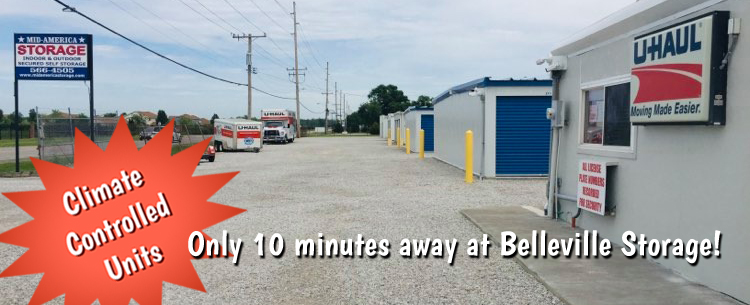 Mid America Storage Center Offers Climate Controlled Storage at Belleville Storage Center